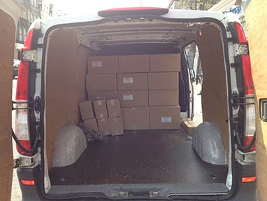 vito van back with few boxes